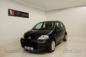 By used Citroen C3 1.4  54 kW 2008 color black for Sale in Tallinn